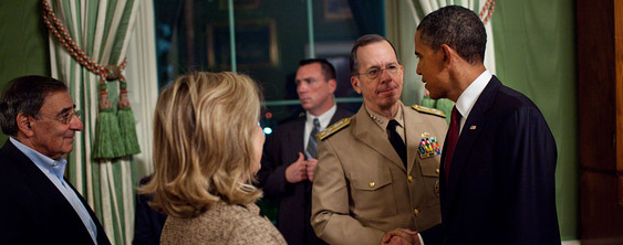 Barack Obama and Admiral Mike Mullen